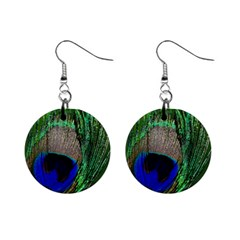 Peacock Mini Button Earrings