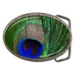 Peacock Belt Buckle (Oval)