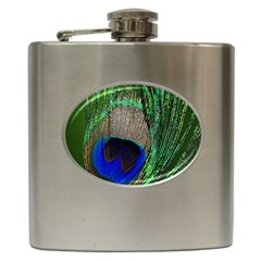 Peacock Hip Flask