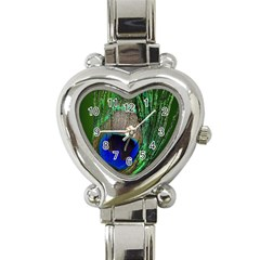 Peacock Heart Italian Charm Watch