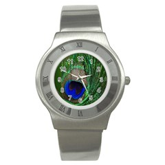 Peacock Stainless Steel Watch (Slim)