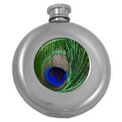 Peacock Hip Flask (Round)