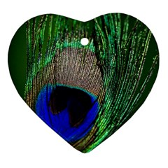 Peacock Heart Ornament (Two Sides)