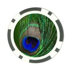 Peacock Poker Chip