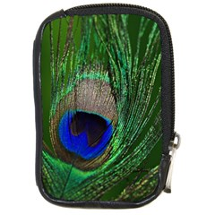 Peacock Compact Camera Leather Case