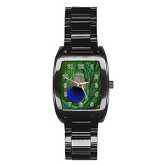 Peacock Stainless Steel Barrel Watch