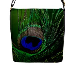 Peacock Flap Closure Messenger Bag (Large)