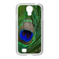Peacock Samsung GALAXY S4 I9500/ I9505 Case (White)