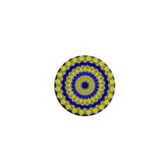 Mandala 1  Mini Button Magnet