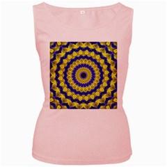 Mandala Womens  Tank Top (Pink)