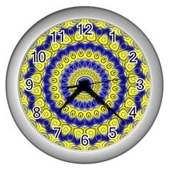 Mandala Wall Clock (Silver)