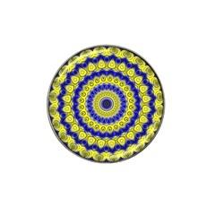 Mandala Golf Ball Marker 4 Pack (for Hat Clip)