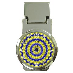 Mandala Money Clip with Watch