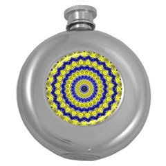 Mandala Hip Flask (Round)