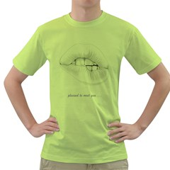 Pleased To Meet You    Mens  T Shirt (green)