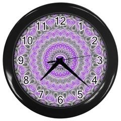 Mandala Wall Clock (black)