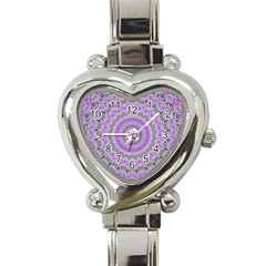 Mandala Heart Italian Charm Watch