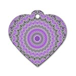 Mandala Dog Tag Heart (One Sided)  Front
