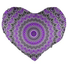 Mandala 19  Premium Heart Shape Cushion