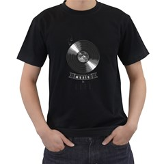 music is life Mens' T-shirt (Black)