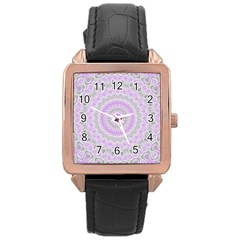 Mandala Rose Gold Leather Watch