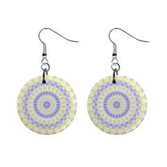 Mandala Mini Button Earrings