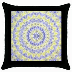 Mandala Black Throw Pillow Case