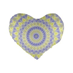 Mandala 16  Premium Heart Shape Cushion