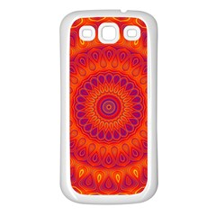 Mandala Samsung Galaxy S3 Back Case (White)