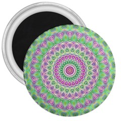 Mandala 3  Button Magnet