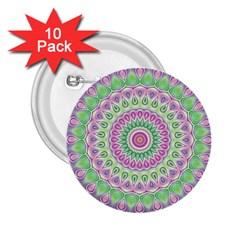 Mandala 2 25  Button (10 Pack)