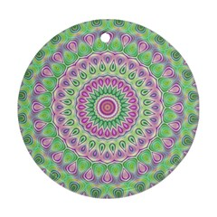 Mandala Round Ornament (Two Sides)