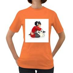 Panda Pressure Womens' T-shirt (Colored)