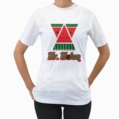 Mr  Melon Womens  T Shirt (white)