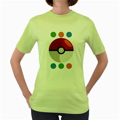 Starters Womens  T Shirt (green)