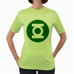 Green Lantern Womens  T-shirt (Green)