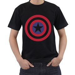 Captain  Murica Mens' Two Sided T-shirt (Black)