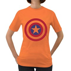 Captain  Murica Womens' T-shirt (Colored)