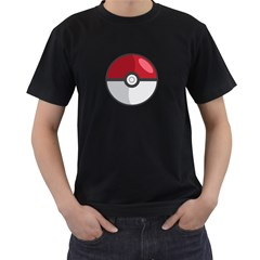 Pokeball Mens' Two Sided T-shirt (Black)