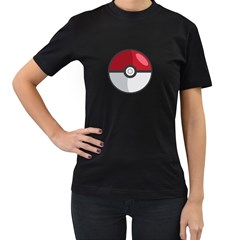 Pokeball Womens' Two Sided T-shirt (Black)