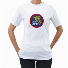 John 3:16 Womens  T-shirt (White)