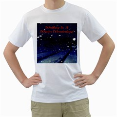 Walking In A Winter Wonderland Mens  T-shirt (White)