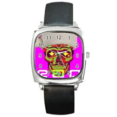 Rad Xmas Square Leather Watch