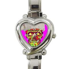 Rad Xmas Heart Italian Charm Watch