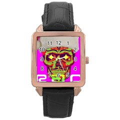 Rad Xmas Rose Gold Leather Watch