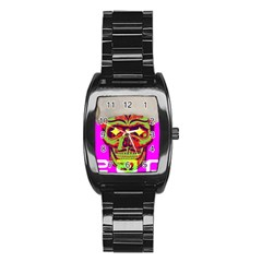 Rad Xmas Stainless Steel Barrel Watch