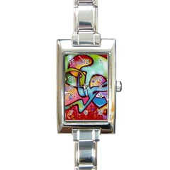 Graffity Rectangular Italian Charm Watch