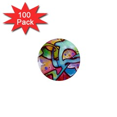 Graffity 1  Mini Button Magnet (100 pack)