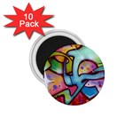 Graffity 1.75  Button Magnet (10 pack) Front