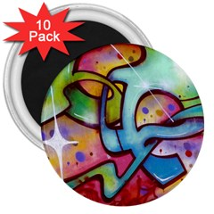 Graffity 3  Button Magnet (10 pack)
